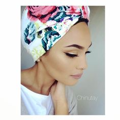 Floral Turban fashion in many looks http://www.justtrendygirls.com/turban-fashion-in-many-looks/