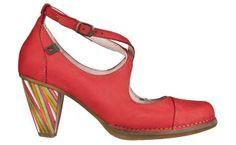 N477 Crust Leather Grosella / Colibri Multicolor - Woman Shoes - Online Shop - El Naturalista