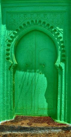 This Moroccan door is so bright it's nearly neon