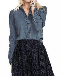 Like the dressier/full skirt with casual denim