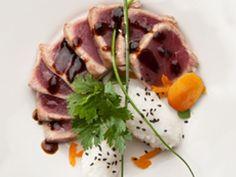 Receta Entrante : Tataki de atún con salsa teriyaki de orejones por BorgesRecetas1
