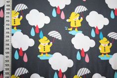 Fabrics Kids - T-shirt jersey fabric colorful rain gray 0.50m - a designer piece of renee d at about
