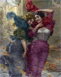 Gaetano Bellei  1857-1922), A Windy Day