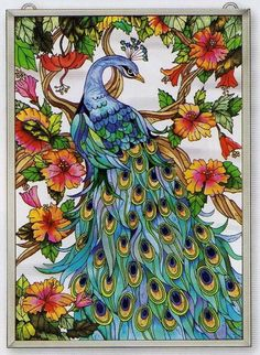 glass flowers art | The Regal Peacock, renowned for Beauty and Dignity, shows off ...