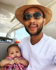 John Legend Shares a Cute New Photo of Baby Daughter Luna in St Tropez — See the Pic!