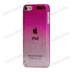 Gradient Color Raindrop Hard Case for iPod Touch 5 - Rose