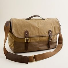 Abingdon messenger bag - J.Crew.  Man bag for John to carry his books and camera. I think we would lose less books this way.