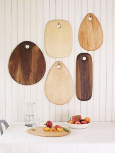 Cutting boards with a softly-rounded shape are useful and beautiful.