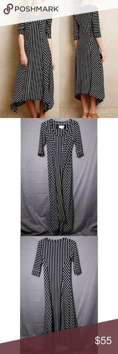 64285997c7606f Anthro Saturday Sunday Black White Striped Dress Anthropologie Saturday  Sunday Black and White