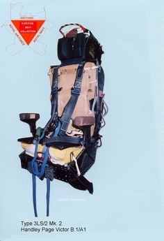 Martin-Baker Type pilot's ejection seat as used in RAF Victors. Handley Page Victor, Ejection Seat, Military Aircraft, Fighter Jets, Pilot, Parachutes, Office Ideas, Airplanes, Recovery