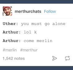 Alone = with Merlin