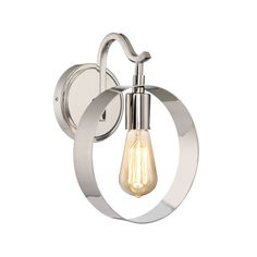 Uptown Polished Nickel One Light Wall Sconce 251 First 1 Light Armed Candle Wall Sconces W