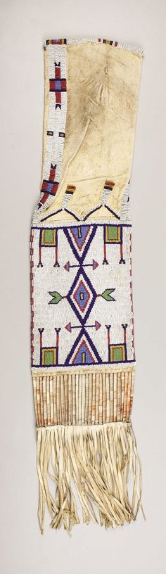 A SIOUX BEADED HIDE TOBACCO BAG. . c. 1890. ... American Indian | Lot #77164 | Heritage Auctions