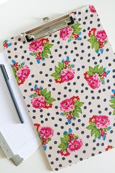 DIY Fabric Covered Clipboard by Sarah Hearts
