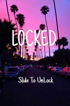 Locked slide to unlock. Love the background