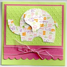 Cute elephant to maybe incorporate into a page (Remember to use patterned paper on cricut die cuts)