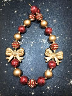 Christmas Chunky Bubblegum Necklace