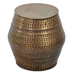 Moroccan Anti-gold Hammered Stool - Overstock Shopping - Great Deals on Horizon Coffee, Sofa & End Tables