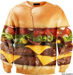 burger sweater! omg! YES!