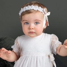 Girls Headbands – Baby Beau and Belle Girls Christening Dress, Baptism Outfit, Baby Baptism, Baptism Dress, Blessing Dress, Baby Blessing, Christening Headband, Romper Dress, Baby Girl Headbands