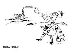 Caricatura de HORIA CRISAN, publicata in almanahul PERPETUUM COMIC '97 editat de URZICA, revista de satira si umor din Romania