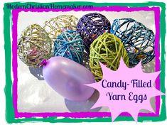 Candy Filled Yarn Eggs
