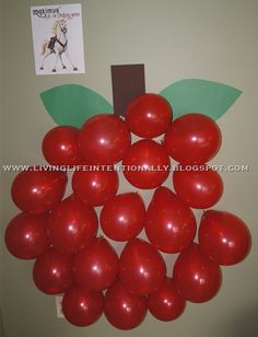 Tangled Maximus Apple Picking Game. Have stickers in each balloon.tons of ideas!