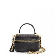 40% off Moschino - Crossbody Bag Black Quilted Leather - $836.98