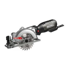 "4-1/2"" Compact Circular Saw - Small, compact size for excellent maneuverability & portability - Slim-Line grip design for comfort, balance and control - Maximum blade clearance for best-in-class cutti"