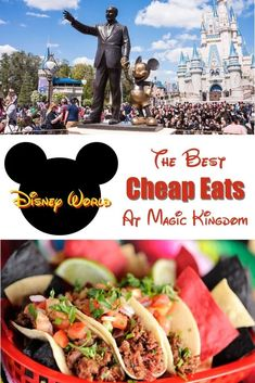 The Best Cheap Eats at Magic Kingdom at Disney World. Least expensive meals and snacks at The Magic Kingdom Park at Disney World. Meals You can split at The Magic Kingdom. Plus, many money-saving tips. Disney World Vacation Planning, Walt Disney World Vacations, Disney Planning, Disney Trips, Disney Parks, Disney Food, Disney Travel, Vacation Ideas, Family Vacations