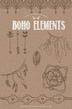 Free Hand Drawn Boho Elements