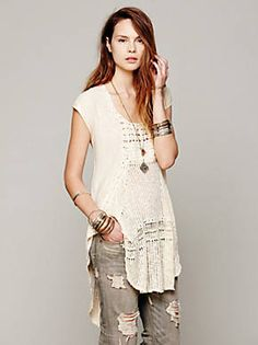 Free People Crochet Pieced Oversized, $69.95