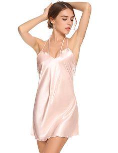 682dc85243 Womens Nightie Nightgown Sleepwear - 7392-pink - CI1847R4KQT