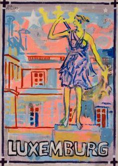 "Saatchi Art Artist Borai Kahne Ateliers; Painting, ""European Capital Cities - Luxemburg"" #art"