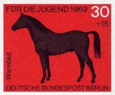 German horse stamp, 1969