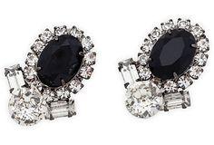Larry Vrba Rhinestone Earrings on OneKingsLane.com