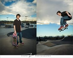 Mixing portraits and action in the skate park for senior pictures
