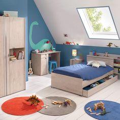 Des rangements sous le lit pour une chambre d'enfant rangée