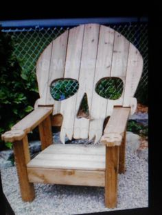 Wonder what the gamecock neighbors would think...??? HAHA!!  SKULL CHAIR  ADIRONDACK chair yard furniture  by Emmanddoubleyas, $129.00