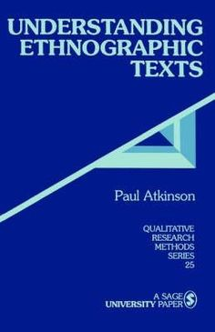 Library Genesis: Paul Anthony Atkinson - Understanding Ethnographic Texts