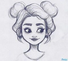 Drawing Pencil Inspiration Character Design Trendy Ideas for more visit website Girl Drawing Sketches, Cool Art Drawings, Pencil Art Drawings, Sketch Art, Cartoon Drawings, Drawing Ideas, Drawing Faces, Cute Drawings Of People, Girl Face Drawing