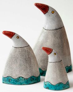 Ellen Horan Clay Birds, Ceramic Birds, Ceramic Pottery, Pottery Art, Ceramic Art, Pottery Sculpture, Bird Sculpture, Kids Clay, Sculpture Lessons