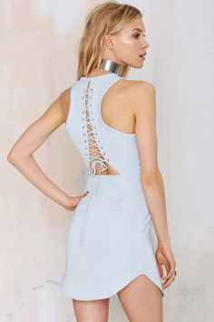 Style Stalker Long Beach Lace-Up Dress