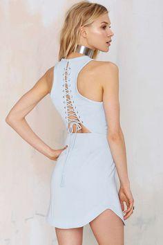 Style Stalker Long Beach Lace-Up Dress