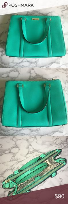 Katespade mint green satchel Kate spade, mint green, removable strap that turns it from cross body to hand held kate spade Bags Crossbody Bags