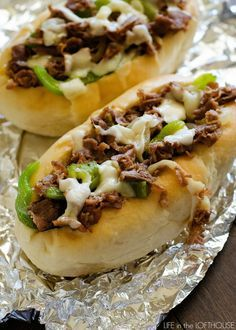 These cheesesteaks. They rank high up in Kale and my favorite sandwiches ever. It makes me happy that my hubby and I enjoy the same kinds of food. One more reason I love that guy. This version of Cheesesteak Sandwiches is the best! In my humble opinion, I Love Food, Good Food, Yummy Food, Delicious Recipes, Beef Recipes, Cooking Recipes, Burger Recipes, Recipies, Carne Picada Recipes
