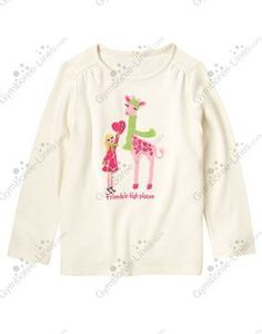 NWT Gymboree Loveable Giraffe Gem Girl & Giraffe Tee - Size 12 - 1 available - $12 shipped