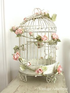 bird cage for wedding cards!  Nice and easy!