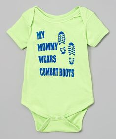 Key Lime 'My Mommy Wears Combat Boots' Bodysuit - Infant