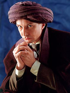 Quirinus Quirrell was played by Ian Hart in the film adaptation of Harry Potter and the Philosopher's Stone, which was released in Harry Potter Film, Harry Potter Characters, Harry Potter Universal, Harry Potter World, Movie Characters, So Happy, Harry Potter Teachers, Ian Hart, The Sorcerer's Stone